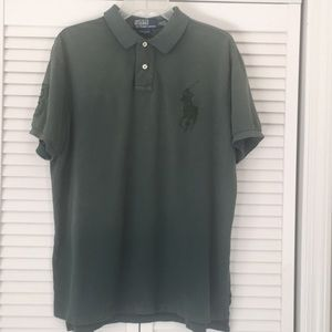 Polo by Ralph Lauren large pony pine green polo XL